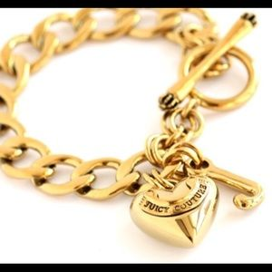 JUICY COUTURE STARTER CHARM BRACELET Heart and J